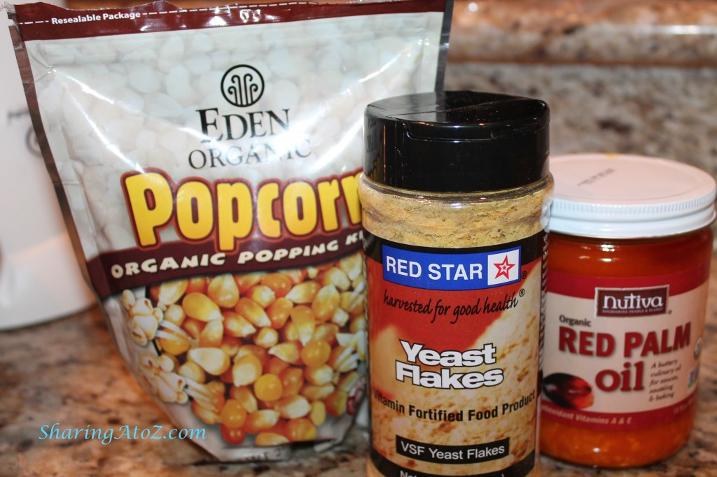 Popcorn red palm oil