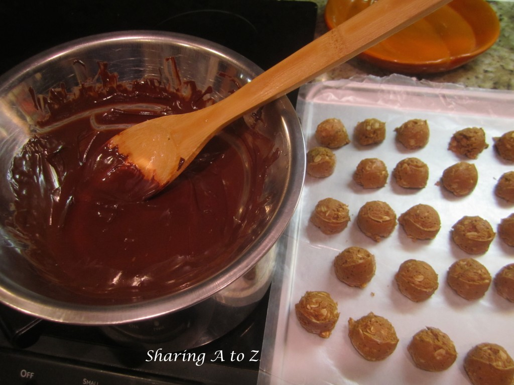 Stir buckeye chocolate