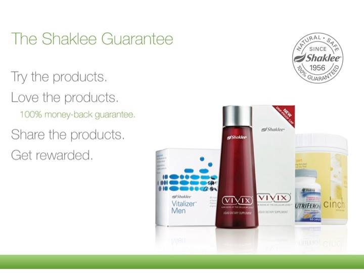 Shaklee guarantee