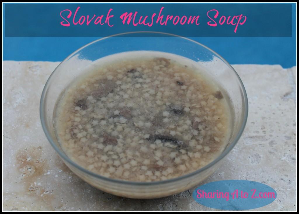 Slovak mushroom soup