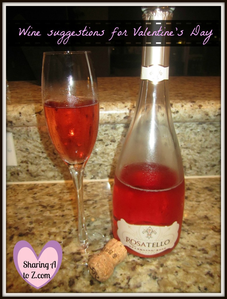 Valentines day wine frame