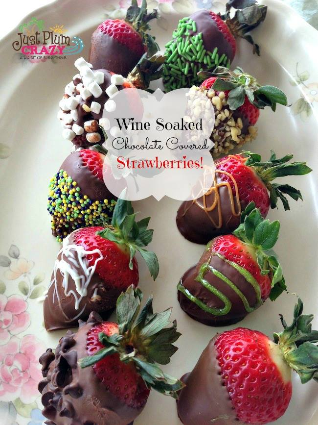 wine soaked  chocolate strawberries