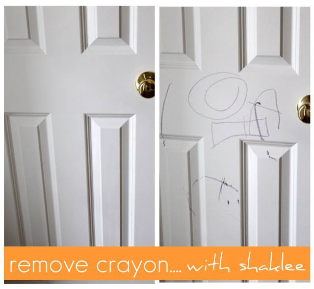 remove crayon with shaklee