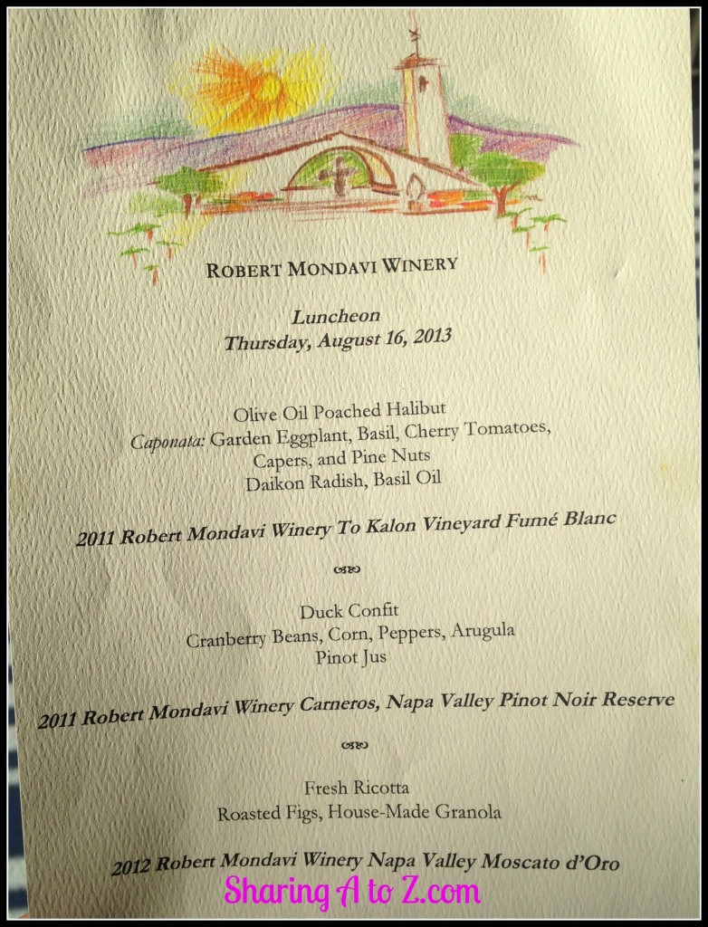 Mondavi luncheon