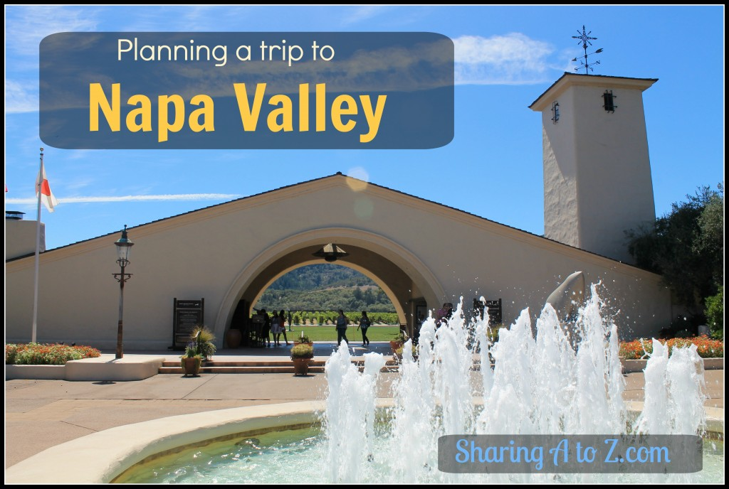 Planning a trip to napa