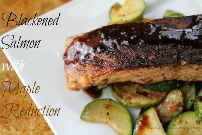 Blackened salmon with maple